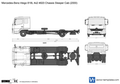 Mercedes-Benz Atego 818L 4x2 4820 Chassis Sleeper Cab