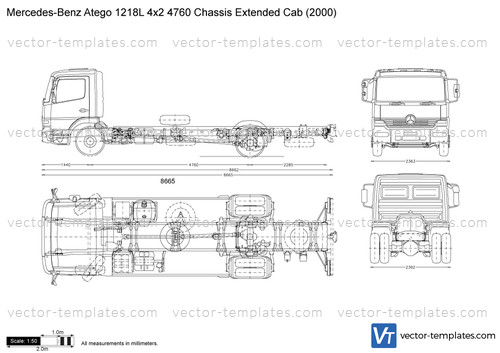 Mercedes-Benz Atego 1218L 4x2 4760 Chassis Extended Cab