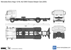 Mercedes-Benz Atego 1218L 4x2 5360 Chassis Sleeper Cab