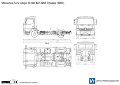 Mercedes-Benz Atego 1317K 4x2 3260 Chassis