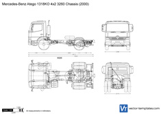 Mercedes-Benz Atego 1318KO 4x2 3260 Chassis