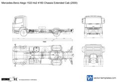 Mercedes-Benz Atego 1523 4x2 4160 Chassis Extended Cab