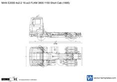 MAN E2000 4x2-2 19.xx3 FLKM 3800 1150 Short Cab