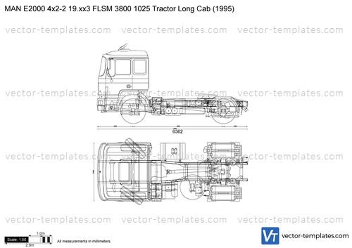 MAN E2000 4x2-2 19.xx3 FLSM 3800 1025 Tractor Long Cab