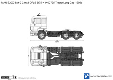 MAN E2000 6x4-2 33.xx3 DFLS 3175 + 1400 725 Tractor Long Cab