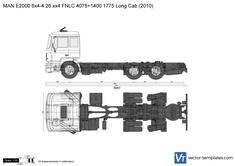 MAN E2000 6x4-4 26.xx4 FNLC 4075+1400 1775 Long Cab