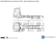 MAN E2000 6x6-4 33.xx3 DFAP-Ki 3500 + 1800 1100 Short Cab