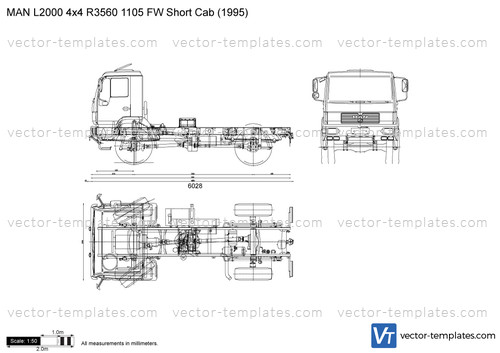 MAN L2000 4x4 R3560 1105 FW Short Cab