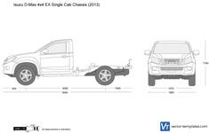Isuzu D-Max 4x4 EX Single Cab Chassis