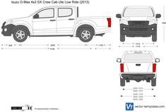 Isuzu D-Max 4x2 SX Crew Cab Ute Low Ride