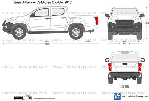Isuzu D-Max 4x4 LS-M Crew Cab Ute