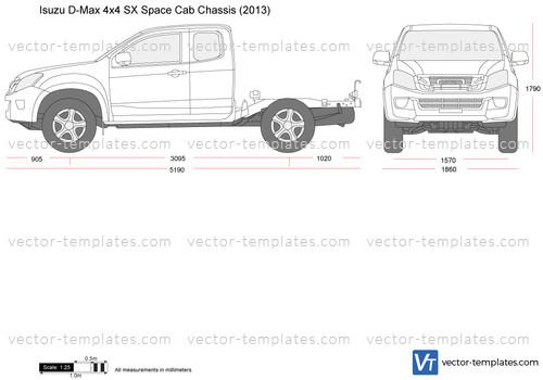 Isuzu D-Max 4x4 SX Space Cab Chassis