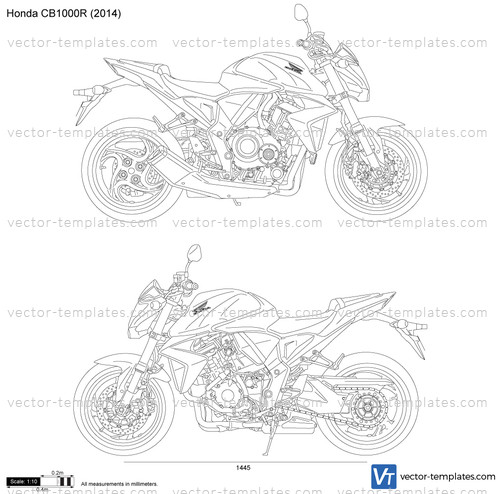templates - motorcycles - honda