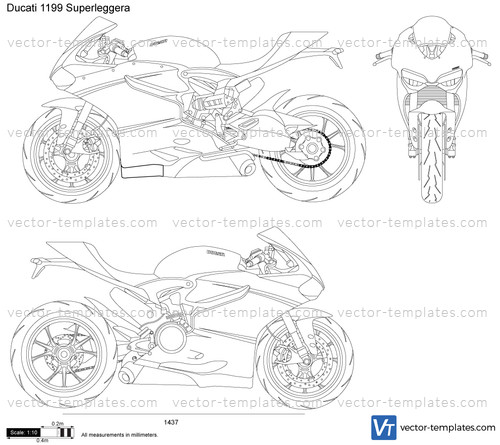 templates - motorcycles - ducati
