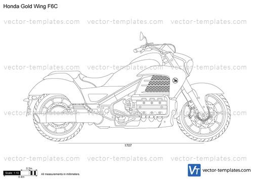 templates - motorcycles - honda