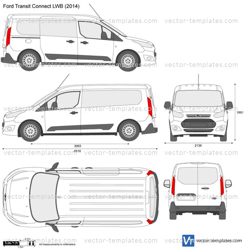 Templates Cars Ford Ford Transit Connect Lwb