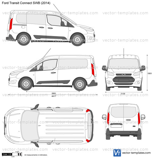 Templates Cars Ford Ford Transit Connect Swb