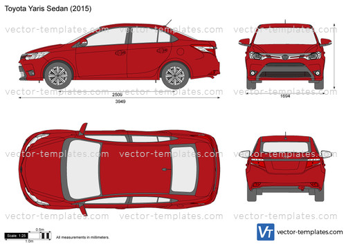 Templates Cars Toyota Toyota Yaris Sedan