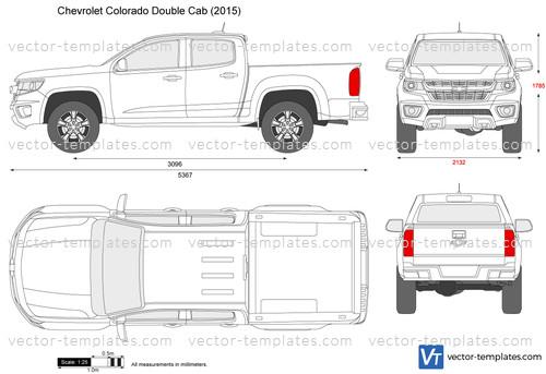 Templates - Cars - Chevrolet - Chevrolet Colorado Double Cab