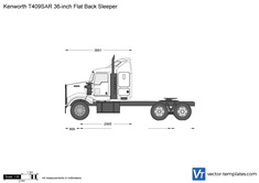 Kenworth T409SAR 36-inch Flat Back Sleeper