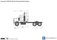 Kenworth T409SAR 36-inch Recessed Back Sleeper