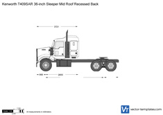 Kenworth T409SAR 36-inch Sleeper Mid Roof Recessed Back