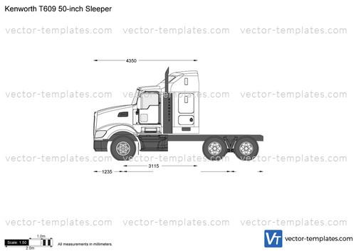 Kenworth T609 50-inch Sleeper