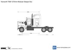 Kenworth T909 1270mm Modular Sleeper Box