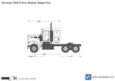 Kenworth T909 915mm Modular Sleeper Box