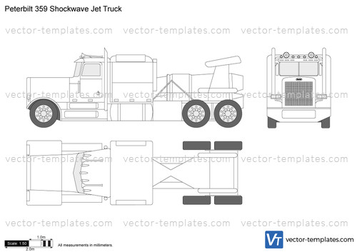 Peterbilt 359 Shockwave Jet Truck