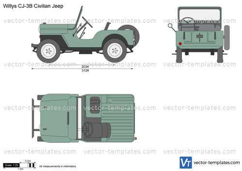 Willys CJ-3B Civilian Jeep