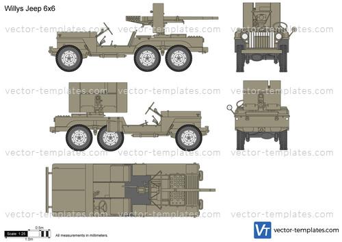 Willys Jeep 6x6