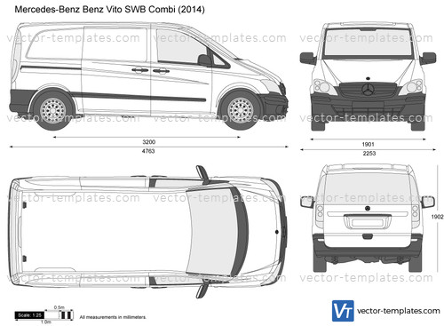 templates cars mercedes benz mercedes benz vito swb combi. Black Bedroom Furniture Sets. Home Design Ideas
