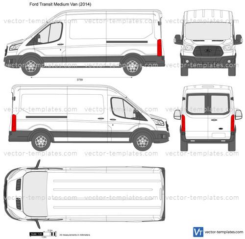 Templates Cars Ford Ford Transit Minibus Medium Roof Lwb