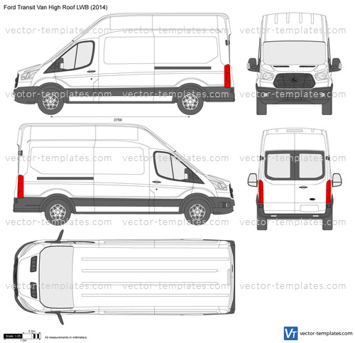 15 Passenger Ford Transit High Top: Ford Transit Van High Roof LWB