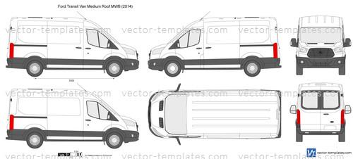 a6411e6f9a Templates - Cars - Ford - Ford Transit Van Medium Roof MWB