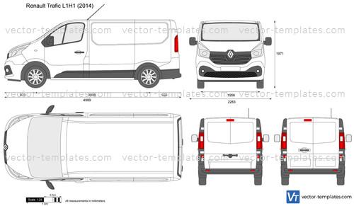 Templates - Cars - Renault - Renault Trafic L1H1