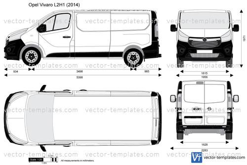 templates cars opel opel vivaro l2h1. Black Bedroom Furniture Sets. Home Design Ideas