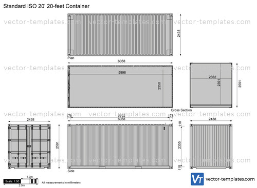 Standard ISO 20' 20-feet Container