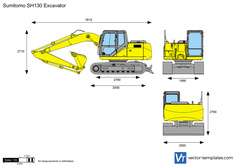 Sumitomo SH130 Excavator