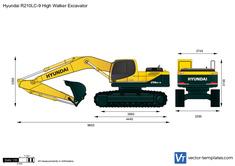 Hyundai R210LC-9 High Walker Excavator
