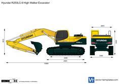 Hyundai R250LC-9 High Walker Excavator