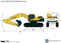 Hyundai R260LC-9A High Walker Excavator