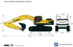 Hyundai R320LC-9 High Walker Excavator