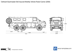 Oshkosh Bushmaster 6x6 Assured Mobility Vehicle Robot Carrier