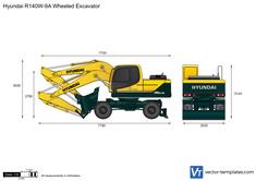 Hyundai R140W-9A Wheeled Excavator