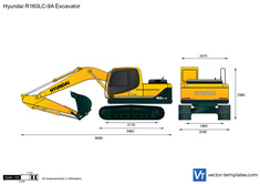 Hyundai R160LC-9A Excavator