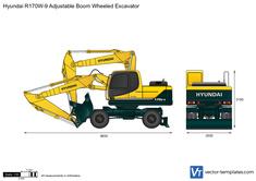 Hyundai R170W-9 Adjustable Boom Wheeled Excavator