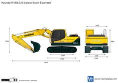 Hyundai R180LC-9 2-piece Boom Excavator