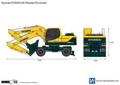 Hyundai R180W-9A Wheeled Excavator
